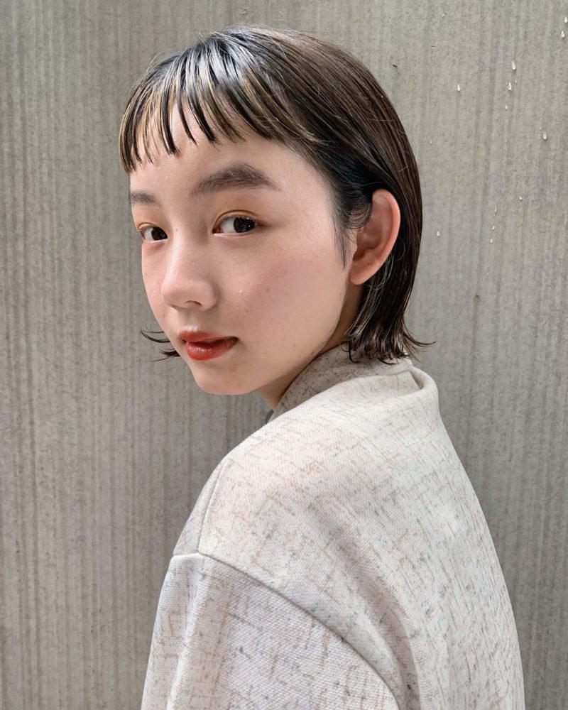 ミニバングが可愛い外ハネボブ|表参道の美容室 JENO (ジェノ)スタイリスト堀江 昌樹の髪型