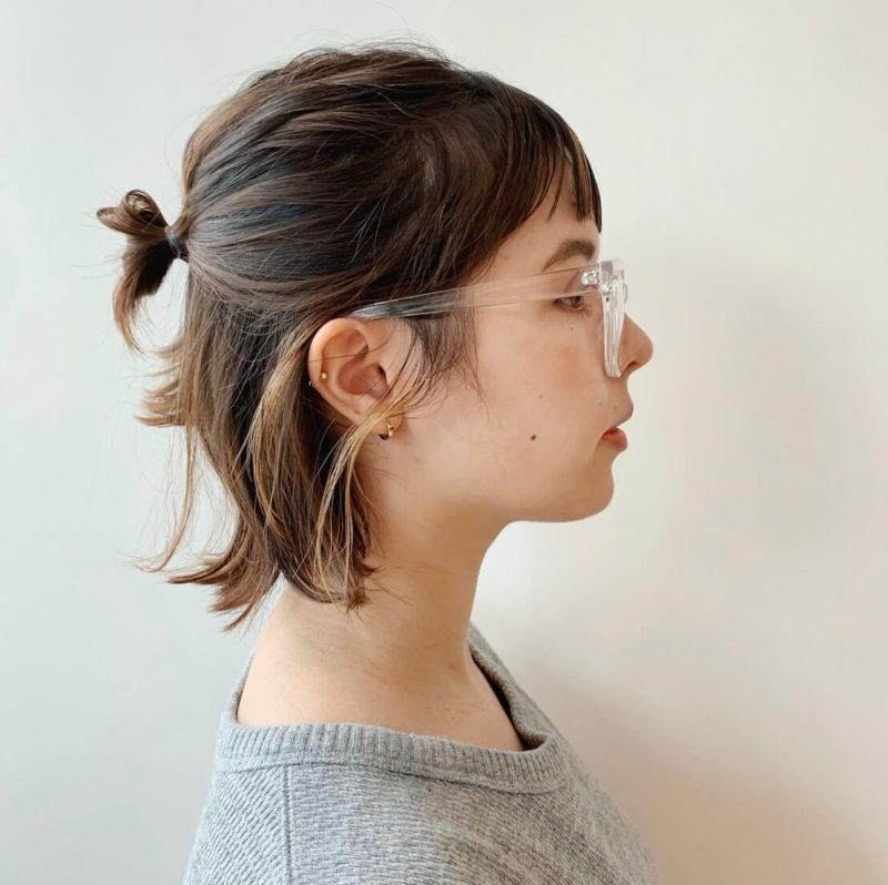 ボブのハーフアップラフアレンジ|【Laf from GARDEN】ラフ フロム ガーデン スタイリスト安倍 千晶の髪型
