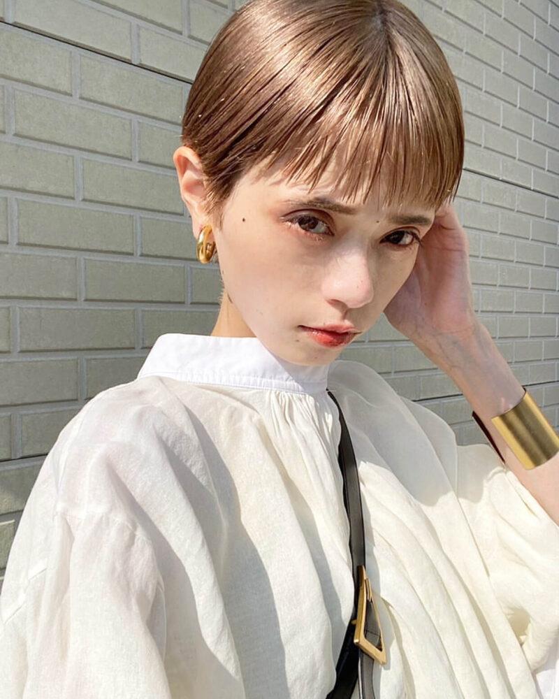 ハイトーンが似合うコンパクトショート|表参道の美容室SOIE (ソワ) スタイリスト柳原 弘樹の髪型