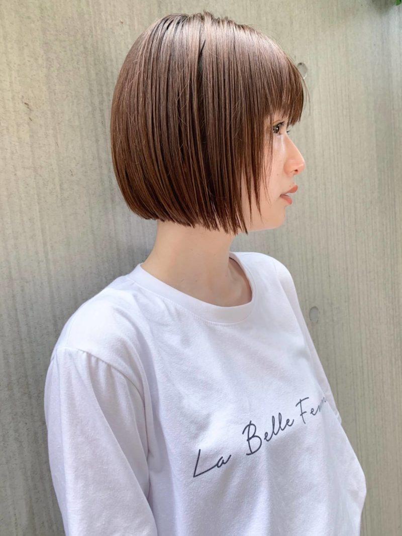 透明感カラーの前下がりミニボブ|表参道の美容室 JENO (ジェノ)スタイリスト堀江 昌樹の髪型