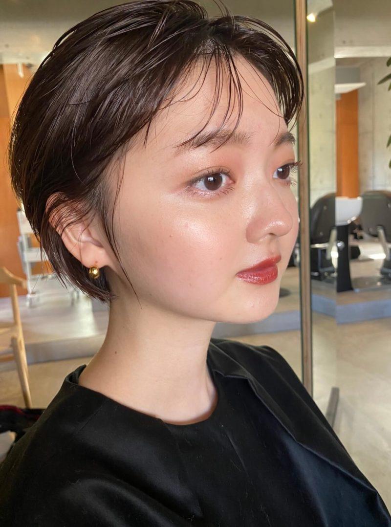 ナチュラルウェットなショートボブ|表参道の美容室SOIE (ソワ) スタイリスト柳原 弘樹の髪型