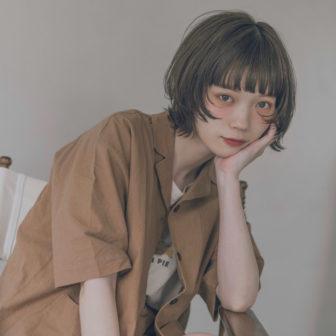 シアーブルージュカラーのボブウルフ|表参道の美容室CIECA. (シエカ)スタイリスト野元亮太のヘアスタイル