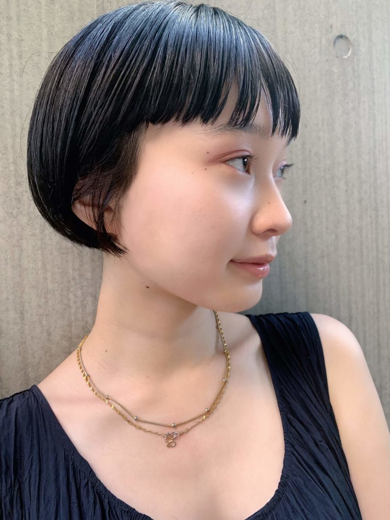 ナチュラルでちょっとクールな黒髪ボブ|表参道の美容室 JENO (ジェノ)スタイリスト堀江 昌樹の髪型