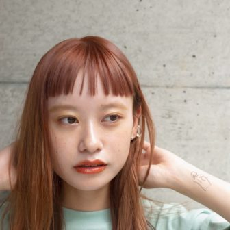 オレンジベージュミディアム|表参道の美容室 ローブ アオヤマ(LOAVE AOYAMA)佐脇 正徳の髪型