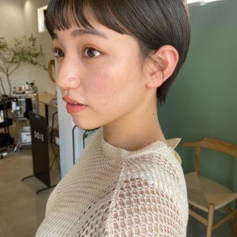 オン眉マッシュショート|表参道の美容室SOIE (ソワ) スタイリスト柳原 弘樹の髪型