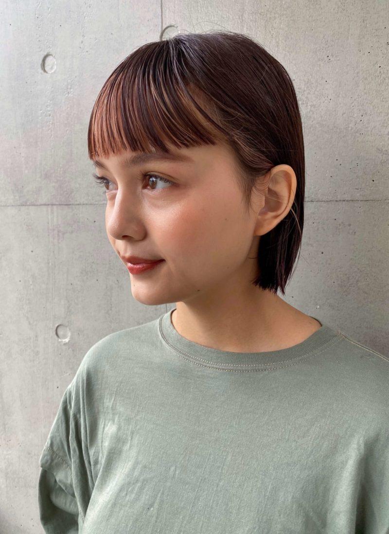 インナーカラーボブ|表参道の美容室SOIE (ソワ) スタイリスト柳原 弘樹の髪型