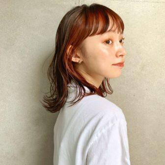 インナーカラーミディ|表参道の美容室 lora.garden(ロラドットガーデン)スタイリスト 椛沢 柚希(カバサワ ユズキ)のヘアスタイル