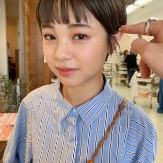 オン眉ぱっつんマッシュショート|名古屋の美容室yew(ユー)スタイリスト新田 竜一の髪型