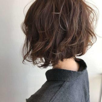外国人風なウェーブボブ|岐阜市の美容室ヘアデザインサロンCiel (シエル)スタイリスト魚住 理恵子のヘアスタイル