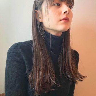 切りっぱなしロング|表参道の美容室 ダコタレイシー(dakota racy )スタイリスト石井 恭介のヘアスタイル