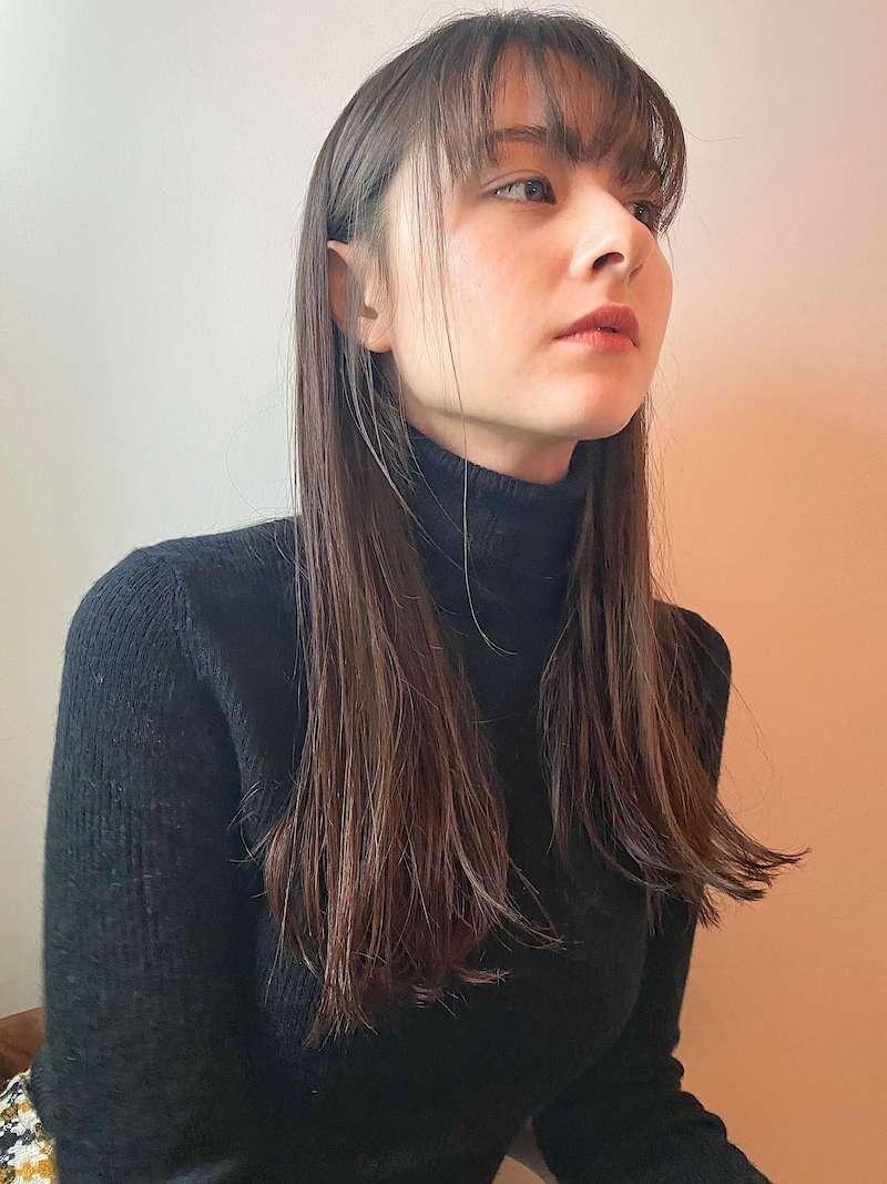 切りっぱなしロング 表参道の美容室 ダコタレイシー(dakota racy )スタイリスト石井 恭介のヘアスタイル
