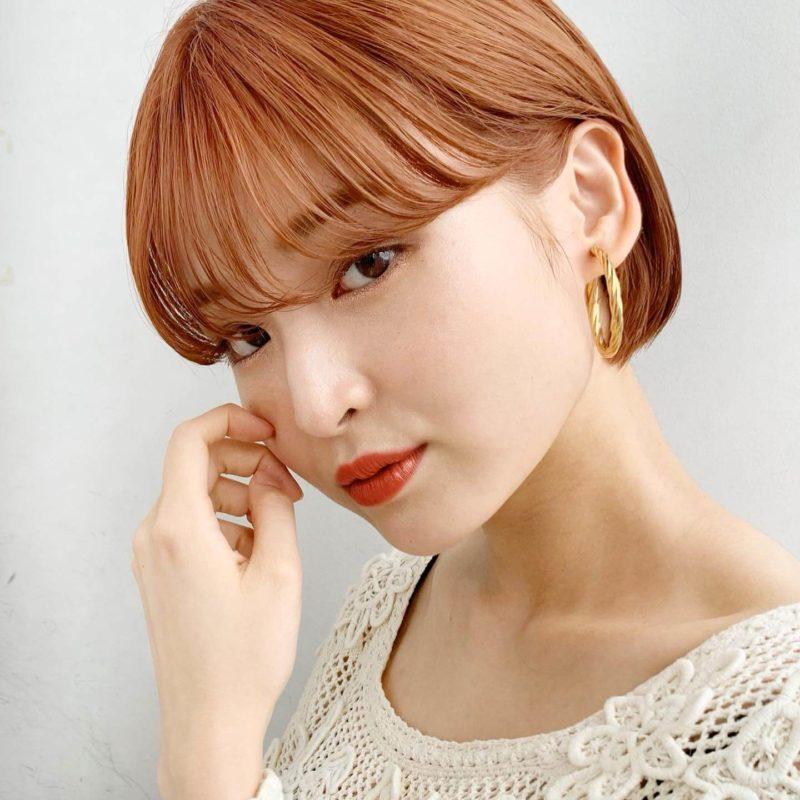 オレンジカラー×ミニボブ★|銀座の美容室 ガーデン トーキョウ(GARDEN Tokyo)スタイリストKOMAKIのヘアスタイル