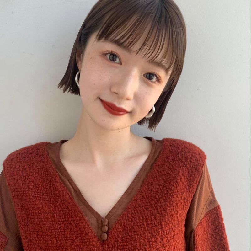外ハネ切りっぱなしボブ|銀座の美容室 ガーデン トーキョウ(GARDEN Tokyo)スタイリストKOMAKIのヘアスタイル