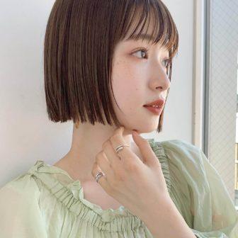 ぷつっとミニボブ★|銀座の美容室 ガーデン トーキョウ(GARDEN Tokyo)スタイリストKOMAKIのヘアスタイル