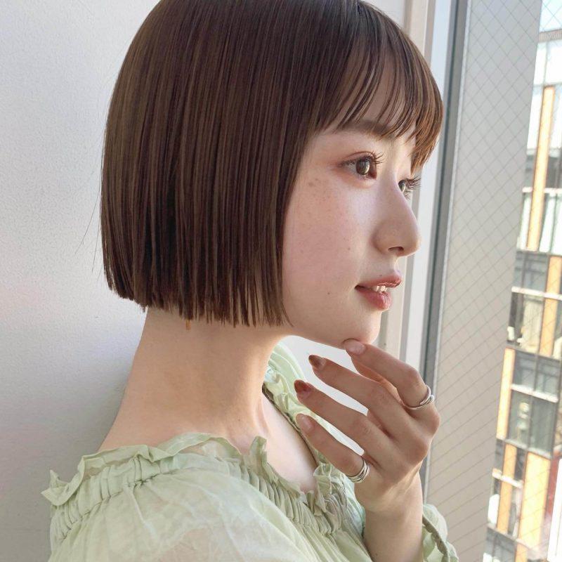 ぷつっとミニボブ|銀座の美容室 ガーデン トーキョウ(GARDEN Tokyo)スタイリストKOMAKIのヘアスタイル