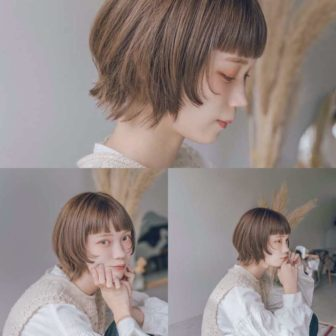 短め前髪のウルフボブ|表参道の美容室CIECA. (シエカ)スタイリスト野元亮太のヘアスタイル・