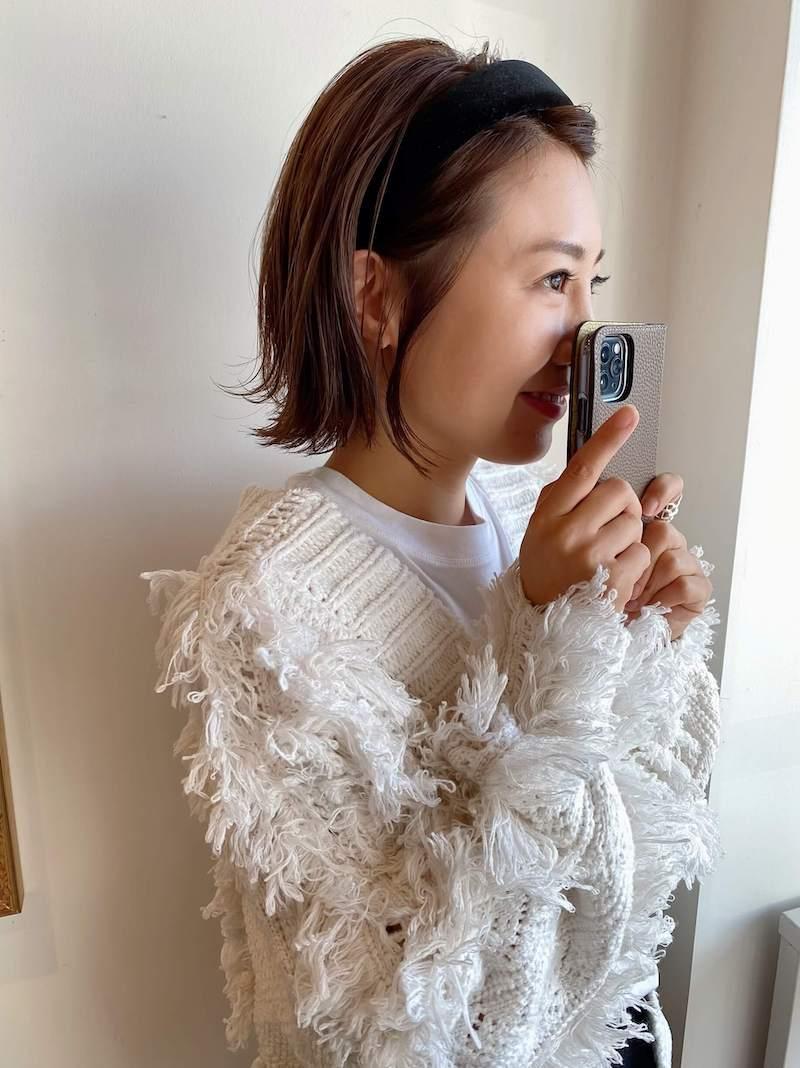 ミニボブ|岐阜市の美容室ヘアデザインサロンCiel (シエル)スタイリスト魚住 理恵子のヘアスタイル