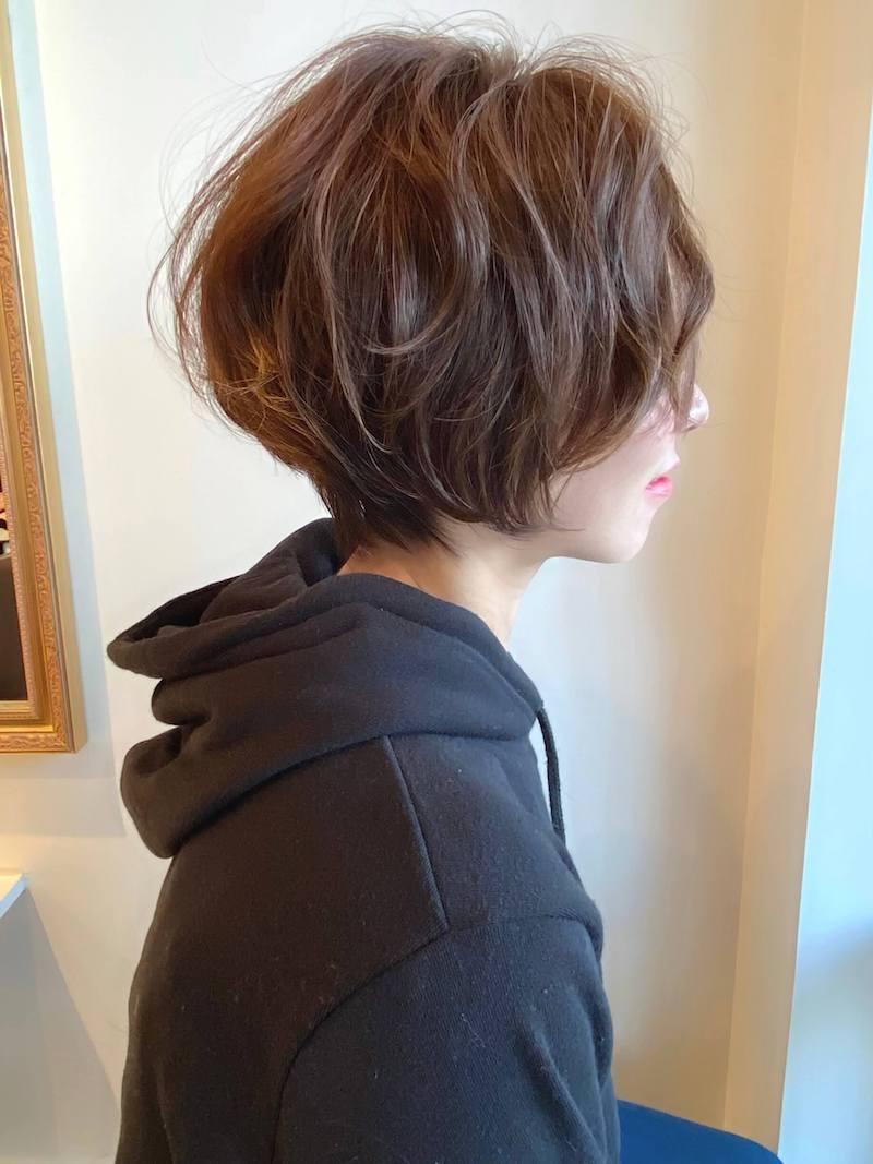 ふんわり柔らかな小顔ショート 岐阜市の美容室ヘアデザインサロンCiel (シエル)スタイリスト魚住 理恵子のヘアスタイル