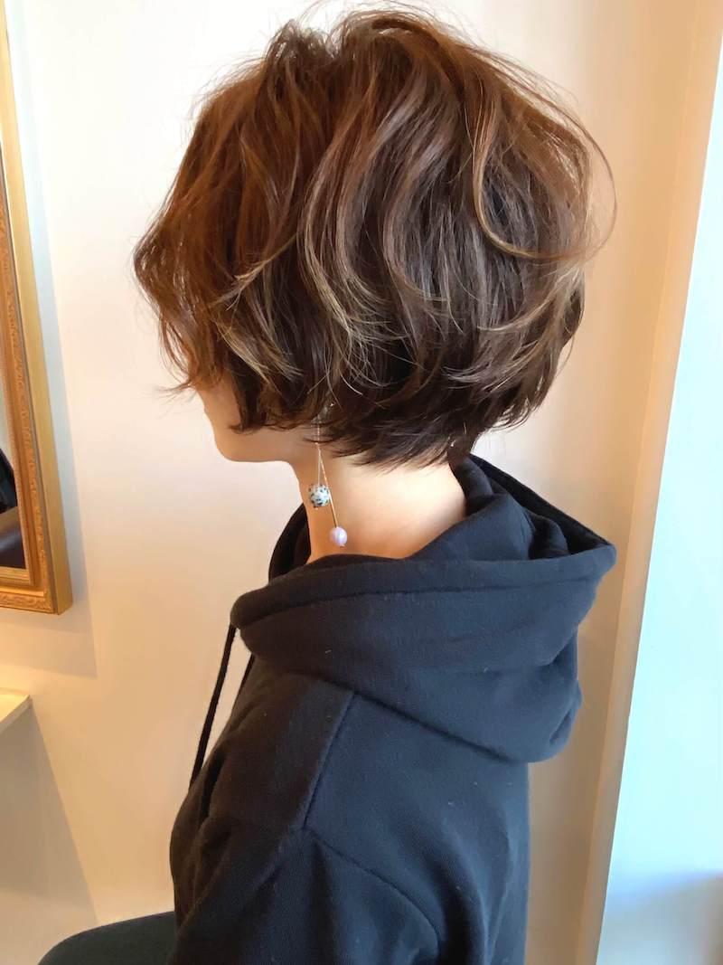 ふんわり柔らかな小顔ショート|岐阜市の美容室ヘアデザインサロンCiel (シエル)スタイリスト魚住 理恵子のヘアスタイル