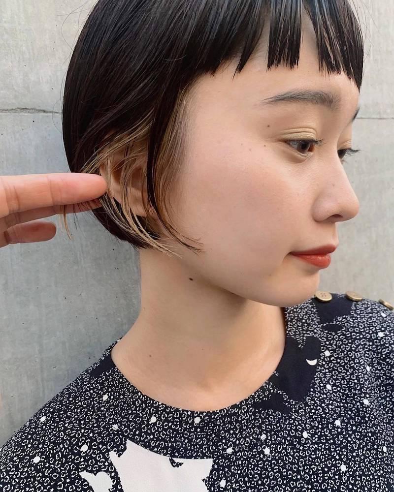 ミニボブイヤリングカラー|表参道の美容室 JENO (ジェノ)スタイリスト堀江 昌樹の髪型