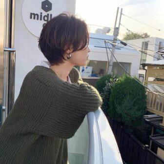 横顔美人×ハンサムショート