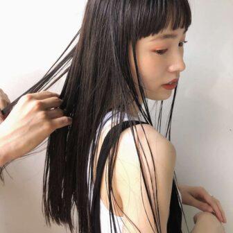 ロングと短め前髪